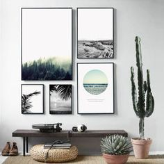 Nordic Landscape Canvas Art Print Painting Poster, Forest Wall Pictures For Home Decoration, Wall Decor - home - Pictures on Wall ideas Landscape Walls, Landscape Prints, Beach Landscape, Canvas Poster, Poster Wall, Print Poster, Canvas Wall Decor, Wall Art Decor, Hipster Wall Decor