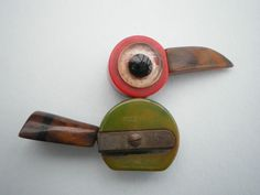 bakelite / phenolic 1930's pencil sharpener bird