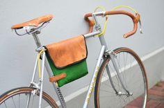 freiSTIL, handcrafted bike bag, Fahrradtasche aus Turnmatte und Turnkastenleder