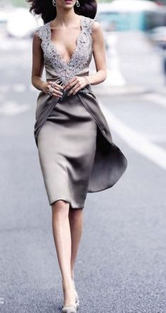 Fashion Inspiration ~ like the overlay of the second skirt, and how the shape matches with the lace top