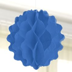 """#Blue 8"""" Honeycomb Ball - Party Decorations"""
