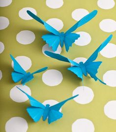 I've made butterflies out of soda cans. This would be fun to decorate the walls.