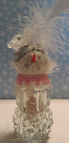 "Vintage Salt Shaker Snowman ""Harriet"" by SimplyTheGlitter on Etsy"
