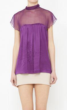 Alberta Ferretti Purple Top