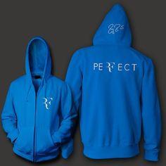 Roger Federer signature RF logo unisex zip up hoodie
