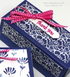 Stampin' Up! Demonstrator Pootles - Floral Boutique Yankee Candle Box Stamped Detail
