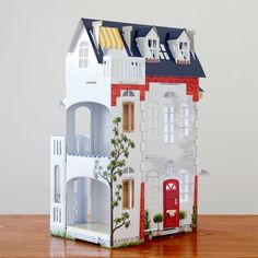 Cardboard Dollhouse by Mooiio on Etsy