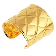CHANEL Rare quilted oversize cuff, previously owned, early 1980's, made in France $2395.00 Check out Vintage Treasures: Designer Jewelry on sale today on HauteLook. http://www.hautelook.com/short/3Da1A What do you think?