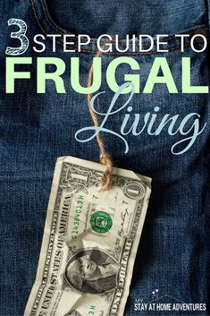 There's saving money and then there is living frugally. There is a difference in the two, learn the difference with the 3 step guide to frugal living. #savemoney