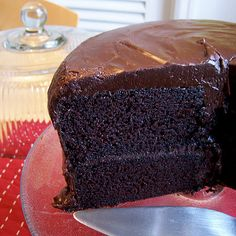 Amazing Chocolate Buttermilk Layer Cake. I just made this and it is amazing!!!!! T
