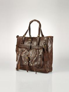Studded Leather Moto Tote - Polo Ralph Lauren Polo Ralph Lauren -  RalphLauren.com Ralph 414583f7c624e