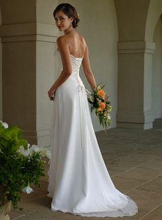 Back of Strapless dress