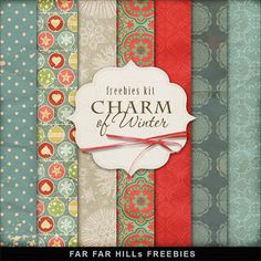 Far Far Hill: Freebies Kit of Backgrounds - The Charm of Winter