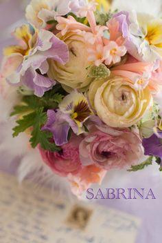 love this sweet color combi サブリナ~花のある暮らし~-パステルの花束