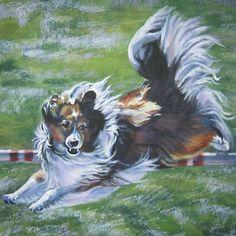 Shetland Sheepdog Sheltie 12x12 Canvas Print Painting Dog LSHEP Art | eBay