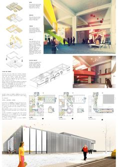 Competition Asks Young Architects to Transform Abandoned Factory into Cultural Center,Mention: RIZOMA (Giuliano Primi, Elena Pellegrini). Image Courtesy of Young Architects Competitions
