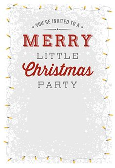 a merry little christmas party printable invitation customize add text and photos