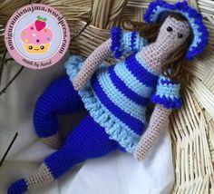 tilda doll crochet toy amigurumi ganchillo muñeca bañista playa