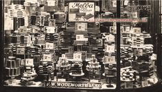 A window display of Melba chocolate bars in a variety of shapes and sizes from tuppence to sixpence at Woolworths in the Vintage London, Vintage Shops, Store Window Displays, Display Window, Vintage Candy, Shop Fronts, Store Windows, Through The Window, Visual Merchandising