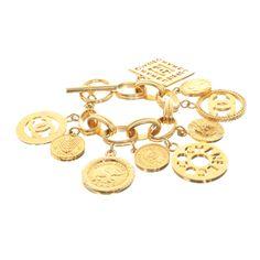 Chanel - Bettelarmband mit Ziermünzen