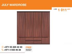 The July wardrobe is so sweet. It even looks like a chocolate bar. Elevated Acacia brown color, stylish look and Polish quality creates such a vibrant ambiance, that everybody feels it. Try experimenting with your friends.   More details here: http://gtfshop.com/july-wardrobe