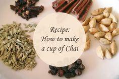 Recipe: A cup of Cha (chai) Milk Tea, Chai, Tea Time, Spices, Treats, Sweet, Blog, Recipes, Sweet Like Candy