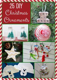 25 DIY Christmas Ornaments by Bargain Briana