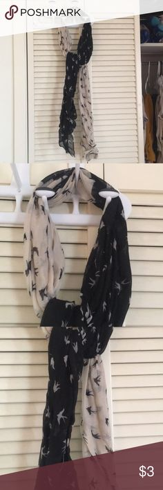 Scarf Beige and black scarf! Rue21 Accessories Scarves & Wraps