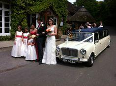 1963 stretched Mini limousine wedding car Ivory Paint, Wedding Car, Antique Cars, Mini, Fat, Vintage Cars