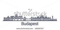 Image result for budapest city center skyline silhouette