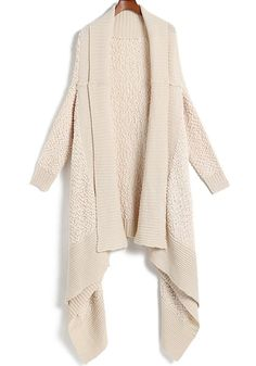 To find out about the Apricot Long Sleeve Shawl Knit Cardigan Sweater at SHEIN, part of our latest Sweaters ready to shop online today! Fleece Cardigan, Shawl Cardigan, Long Cardigan, Mode Inspiration, Vogue, Swagg, Autumn Winter Fashion, Fall Fashion, Fall Winter