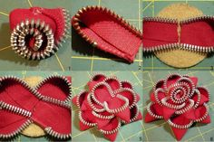 How To Make Zipper Flowers
