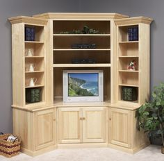 unfinished furniture corner cabinet wall unit - Google Search