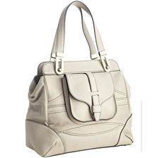 Chloe light grey leather 'Mary' pocket tote