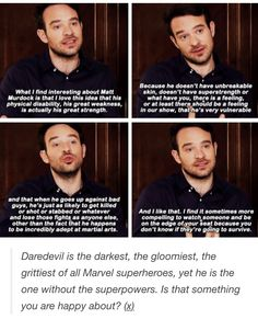 Charlie Cox on Matt < I need to watch this show. I've seen so many people who love it and it sounds amazing.