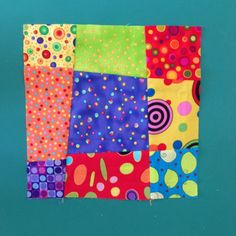 Crazy Nine Patch Baby Block. Fun and quick.