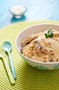 Recette de Blésotto, risotto de blé aux champignons et parmesan frais   StellA Cuisine !!! Recettes faciles, Recettes pas chères, Recettes rapides