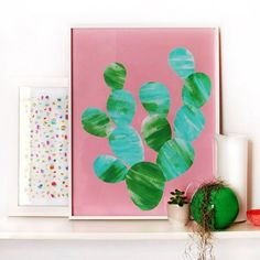 Make it yourself or make it with kids - either way this stunning cactus art is super fun and easy.