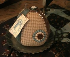 Calico Rabbit: New Wool Pincushion