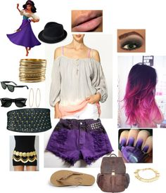 """Punk Rock Esmerelda Outfit"" by casey-carpenter on Polyvore"