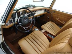 1970 MERCEDES-BENZ 280SL CONVERTIBLE interior..exterior is not bad either