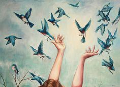 """""""Catching Hope"""", by Abigail Bedwell   36 x 48 in    Original works for sale hand picked by wallhop.com"""