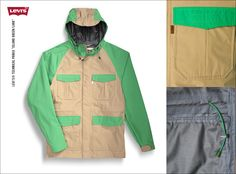 """Levi's® Technical Parka """"Island Green/Lark"""" 100% Poliester www.jeans.pl/product_info.php?product=levis-technical-parka-island-green-lark"""