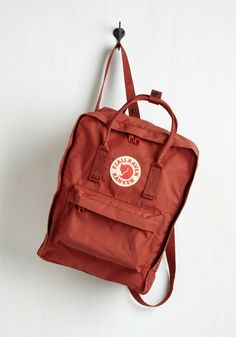 Wherever You Wander Backpack in Carmine. Wherever your journeys take you, travel stylishly with this sleek and unique backpack by Fjllrven! #red #modcloth