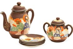 Japanese Tea Set, 6 Pcs. on OneKingsLane.com  Different