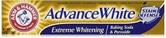 ARM & HAMMER Advance White Baking Soda & Peroxide Toothpaste -- Best teeth whitening toothpaste.