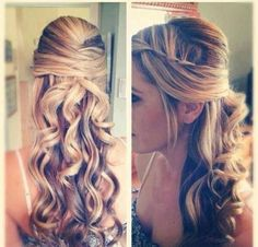 Elegant Half Up Half Down Hairtsyles :)