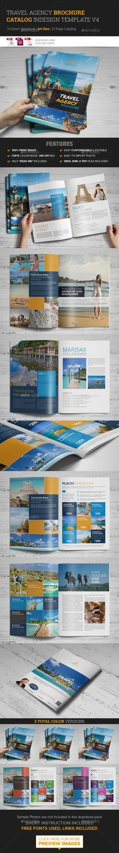 Travel Agency Brochure Catalog InDesign Template #design Download: http://graphicriver.net/item/travel-agency-brochure-catalog-indesign-template-4/10398276?ref=ksioks