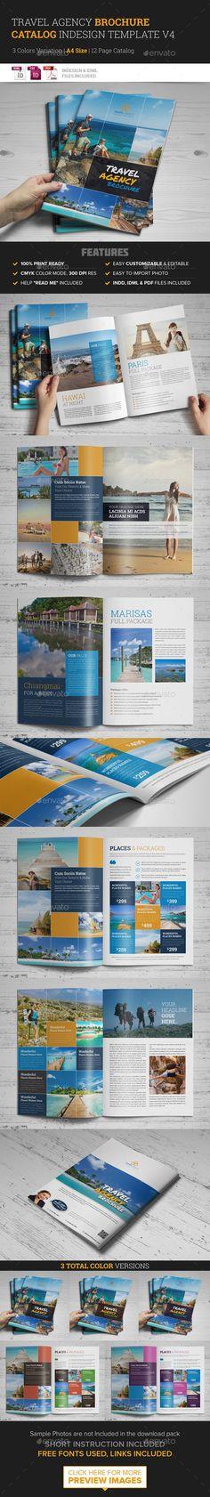 Travel Agency Brochure Catalog InDesign Template #design Download: http://graphicriver.net/item/travel-agency-brochure-catalog-indesign-template-4/10398276?ref=ksioks