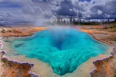 Wow. The Deep Blue Hole In Yellowstone